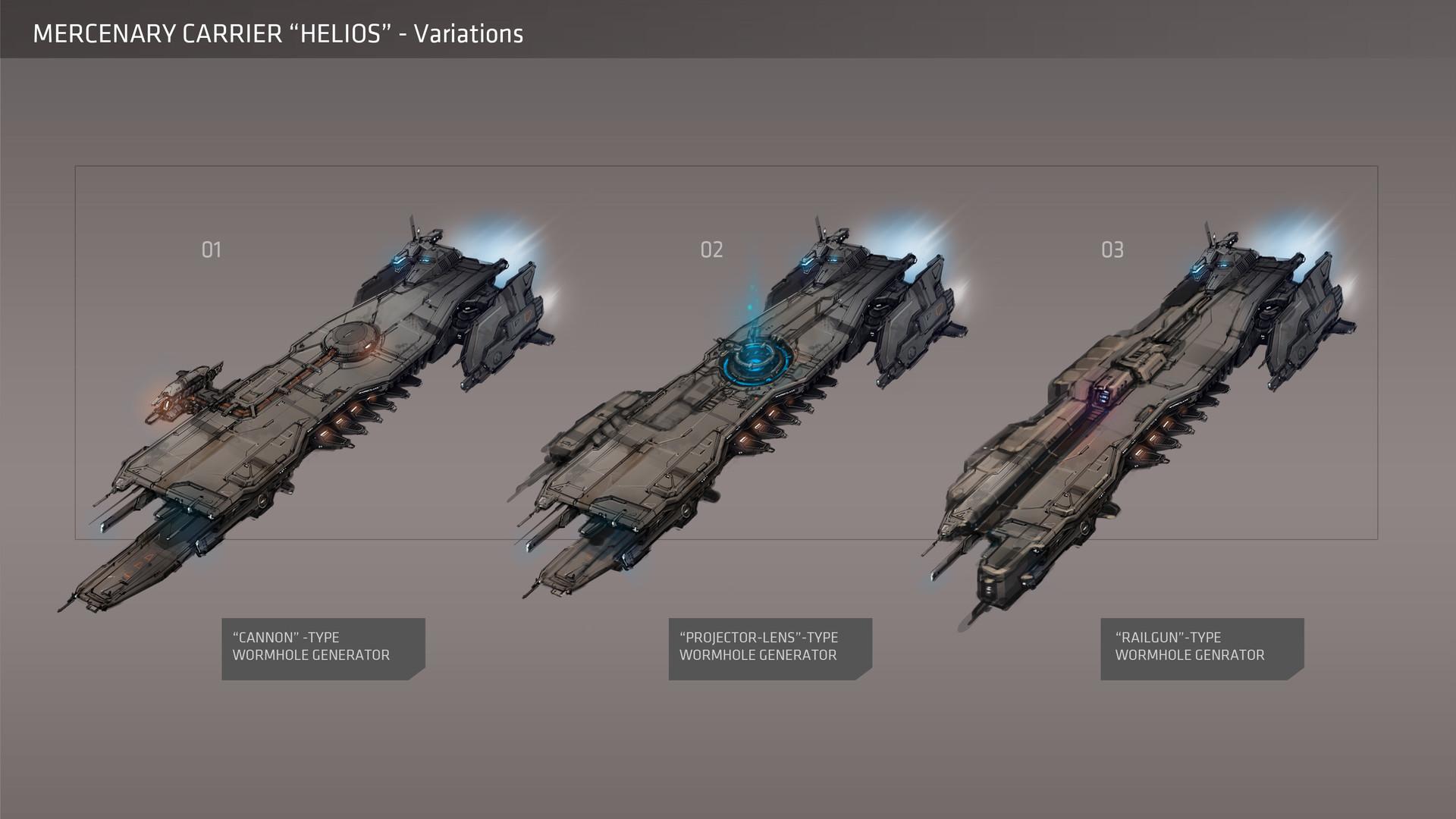 ArtStation - Mercenary Carrier [Galaxy On Fire 3 - Manticore], Marc