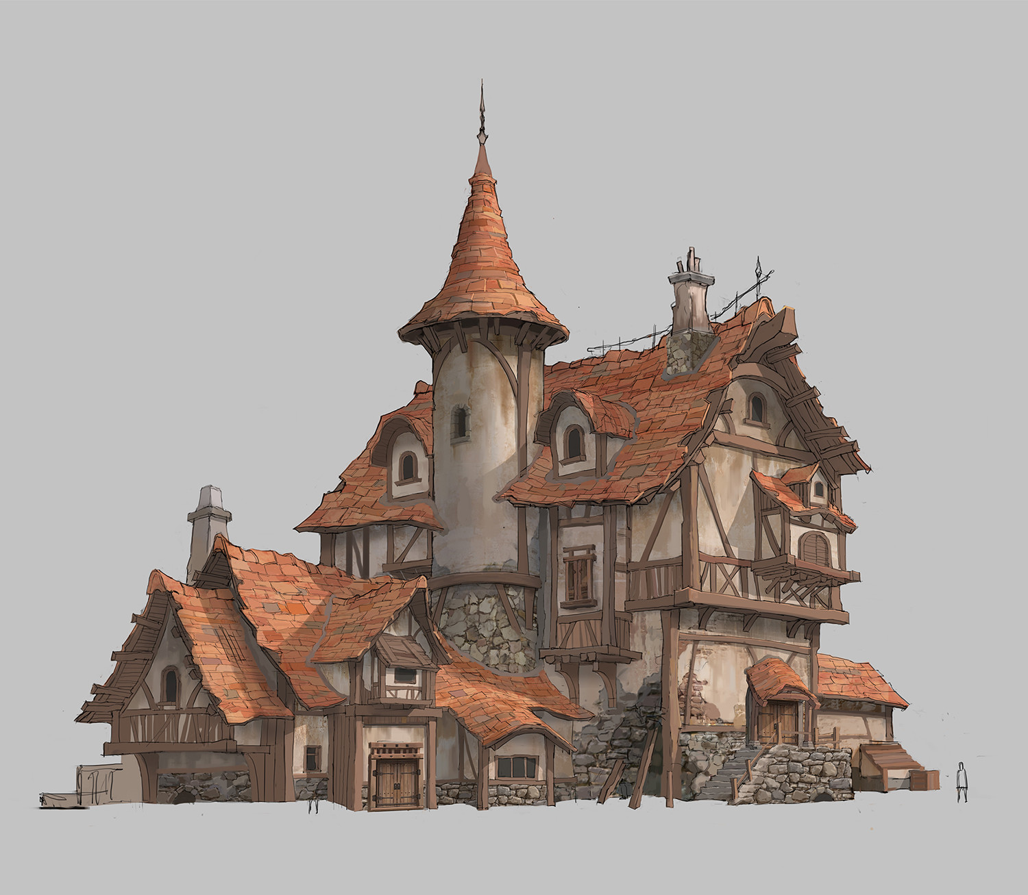Artstation house design taewon hwang for Fantasy house plans