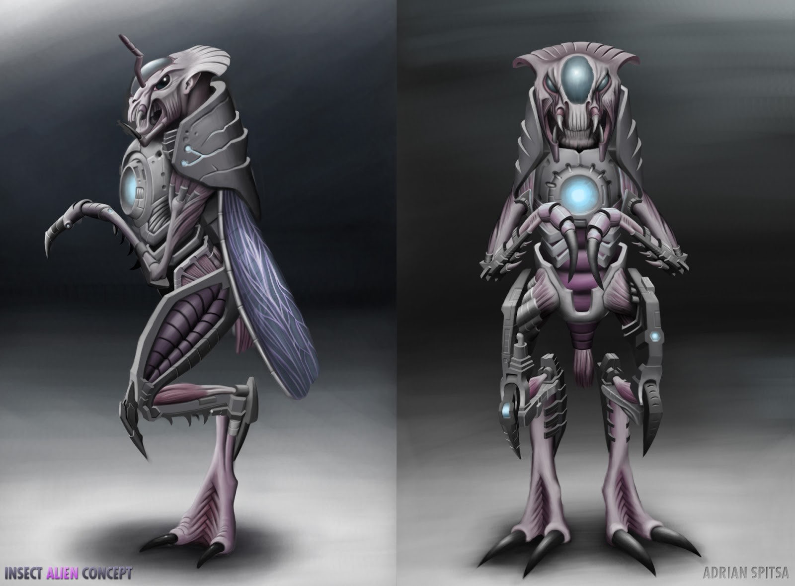 Adrian spitsa insect alien concept