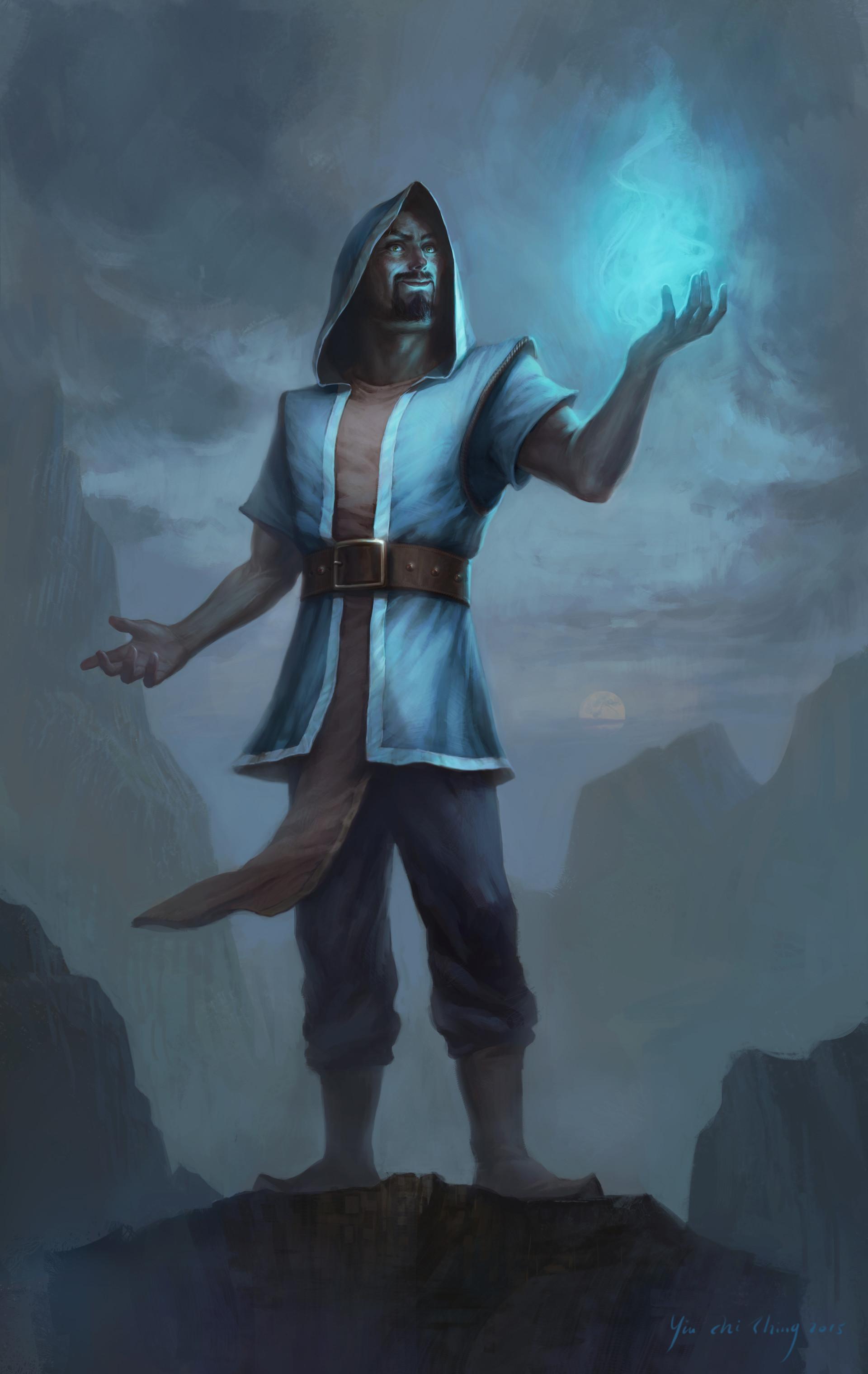 artstation realistic wizard cedric yiu chi shing