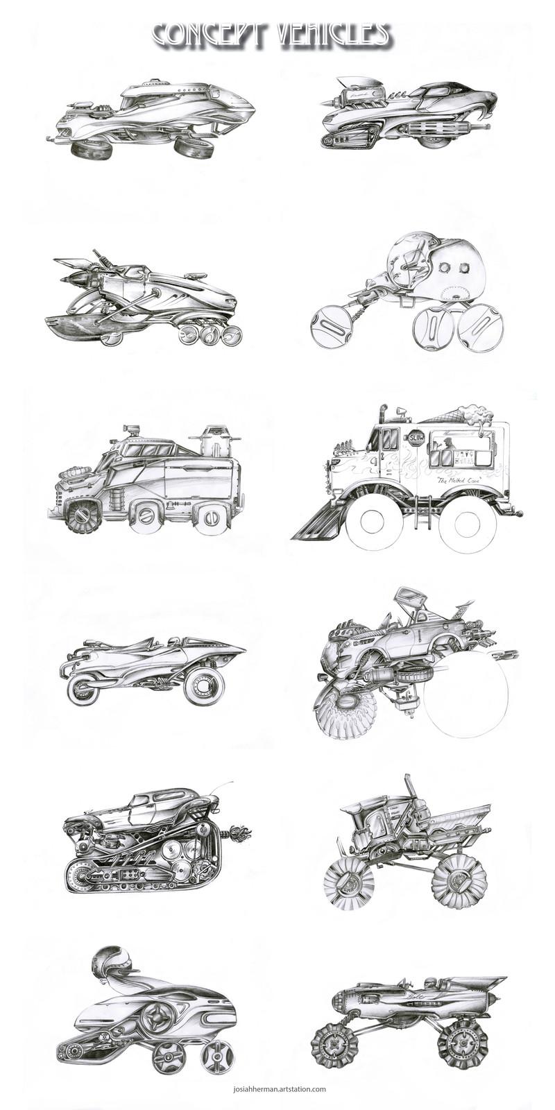 Car Design  Concept Sketches