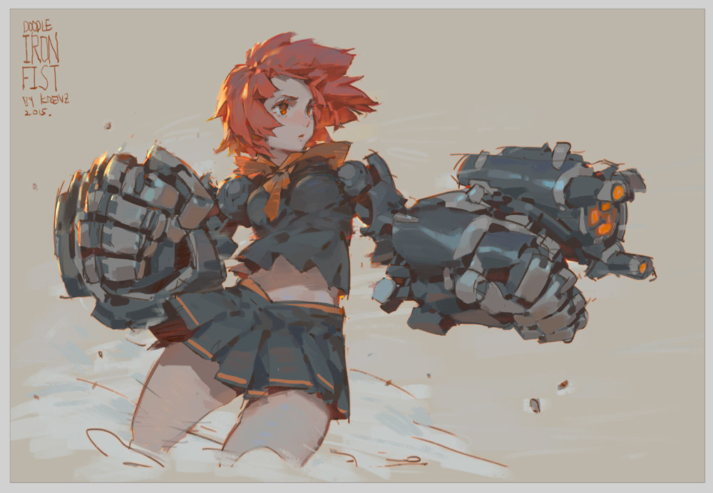Anime Characters Using Fist : Artstation ironfist krenz cushart