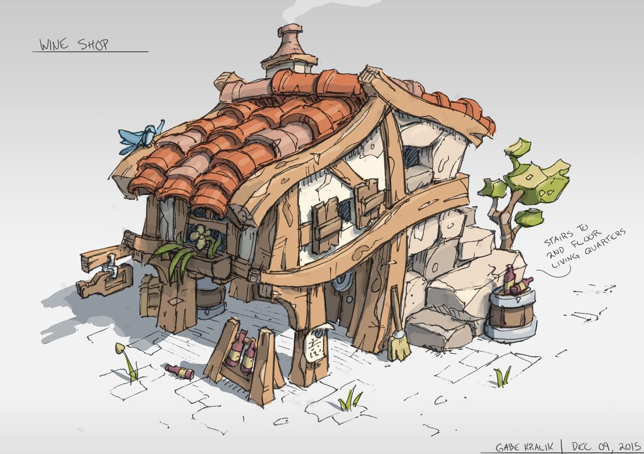 Artstation wine shop gabe kralik for Final fantasy 8 architecture
