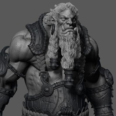 Gilberto magno troll sculpt wip