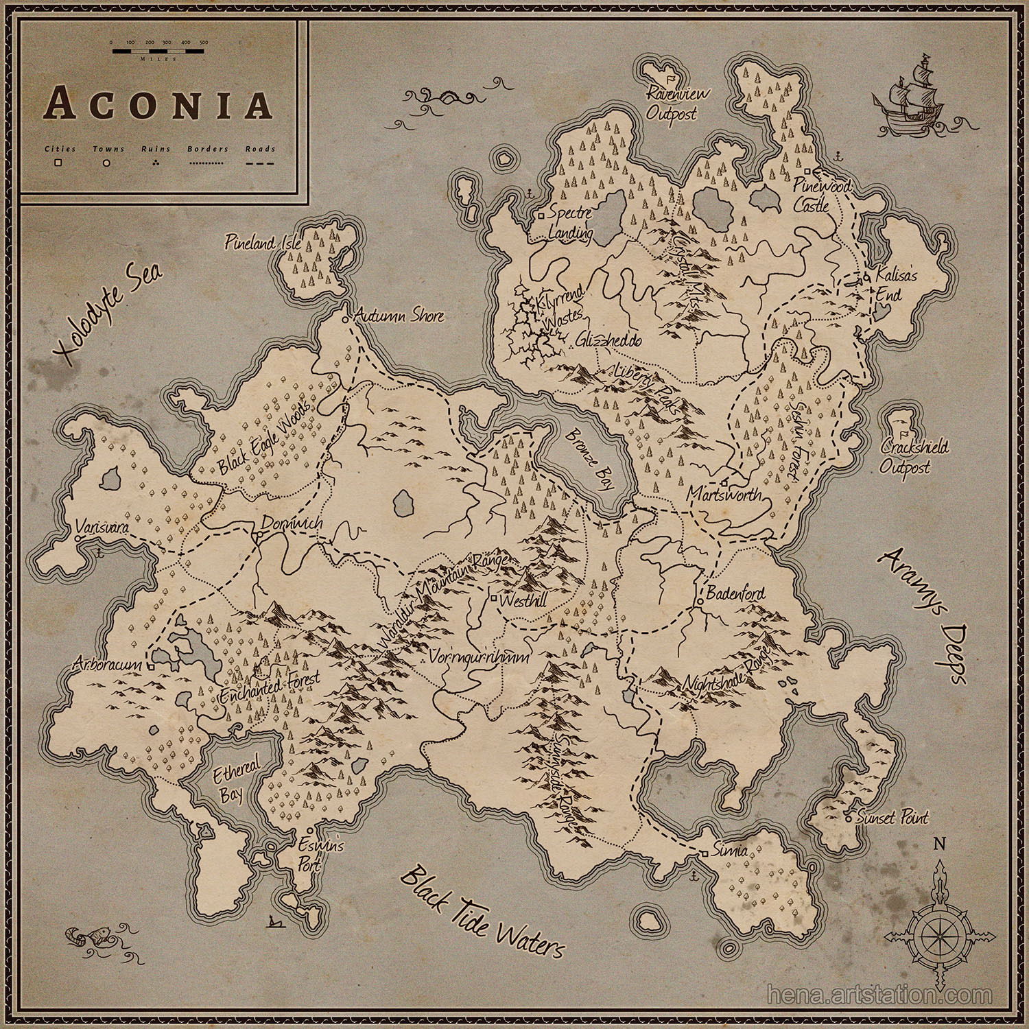 Karin wittig map aconia as