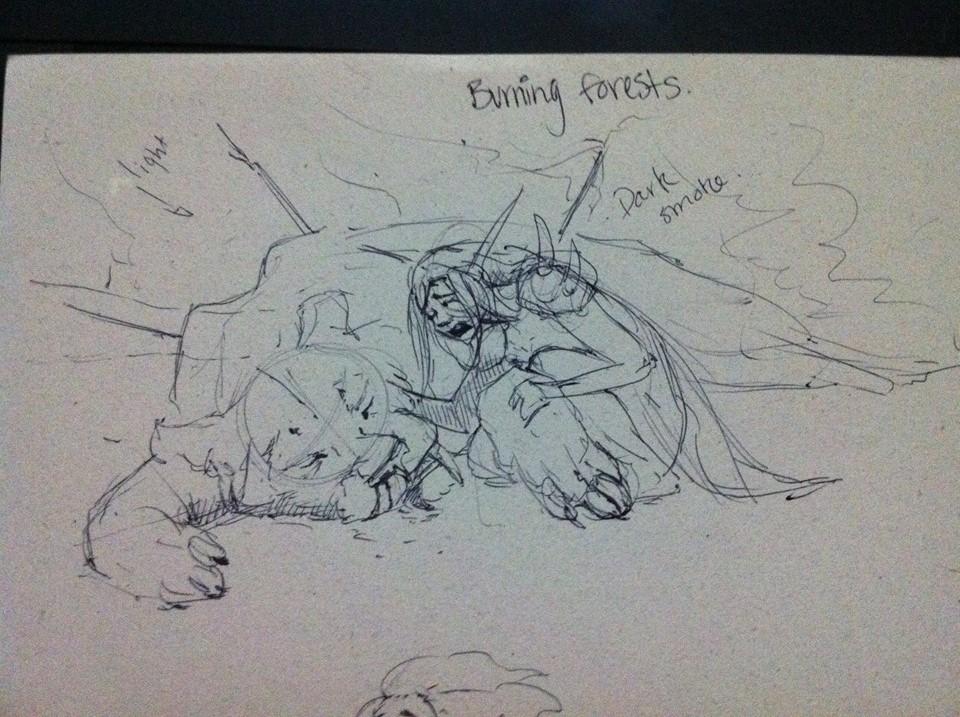 Meagen ruttan burning forests sketch aug2015