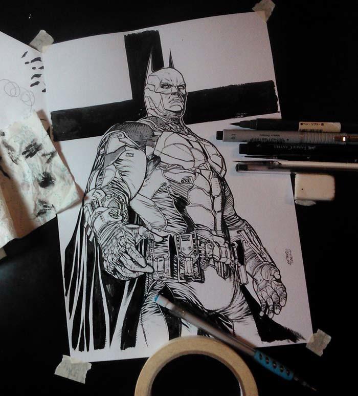 Batman Tribute on my Desk