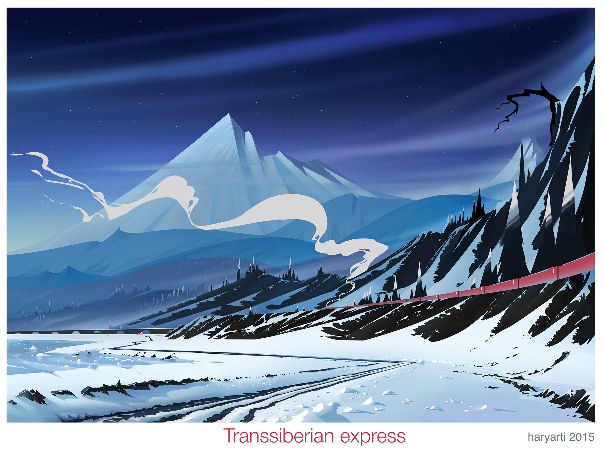 Igor artyomenko train postcard
