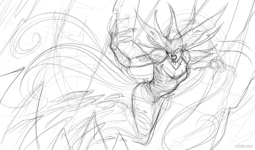 Rafael teruel lissandra 01a rough sketch by rafater