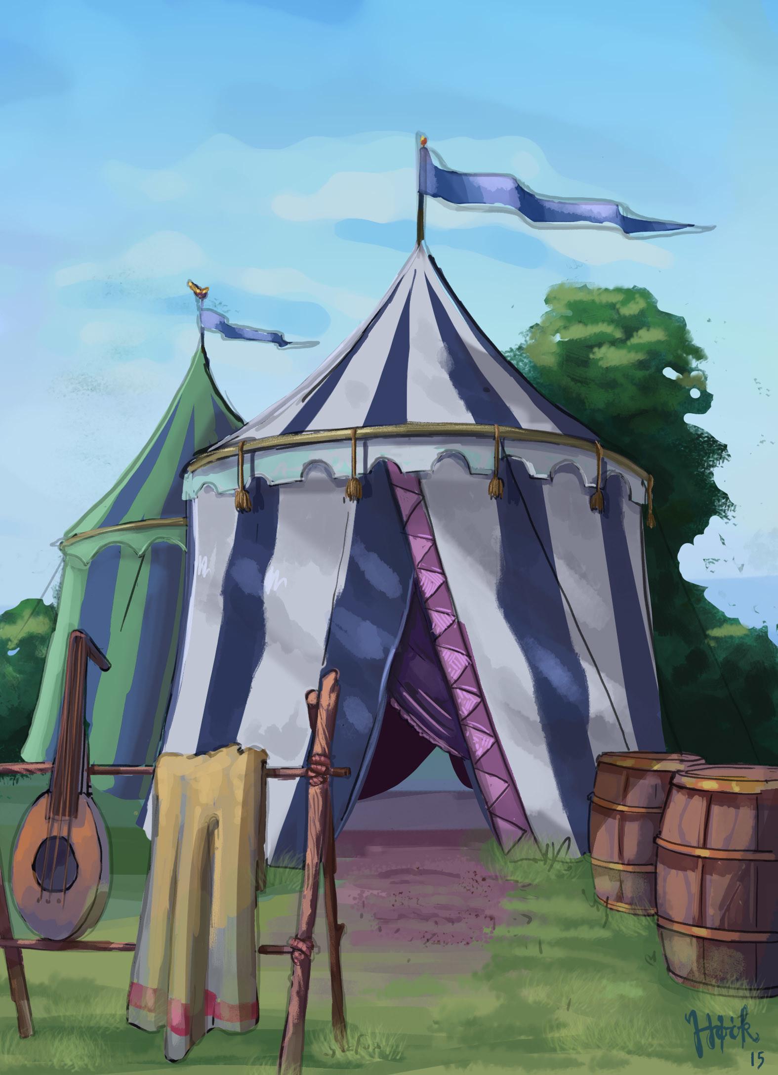Niklas hook tent blue