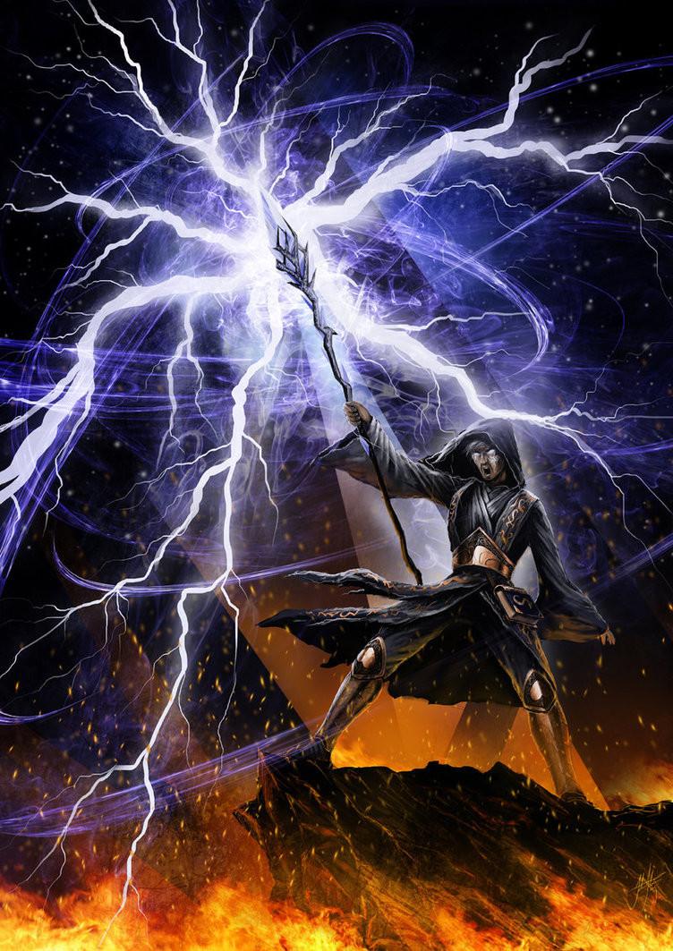 John stone lightning fury by john stone art d9kbijc