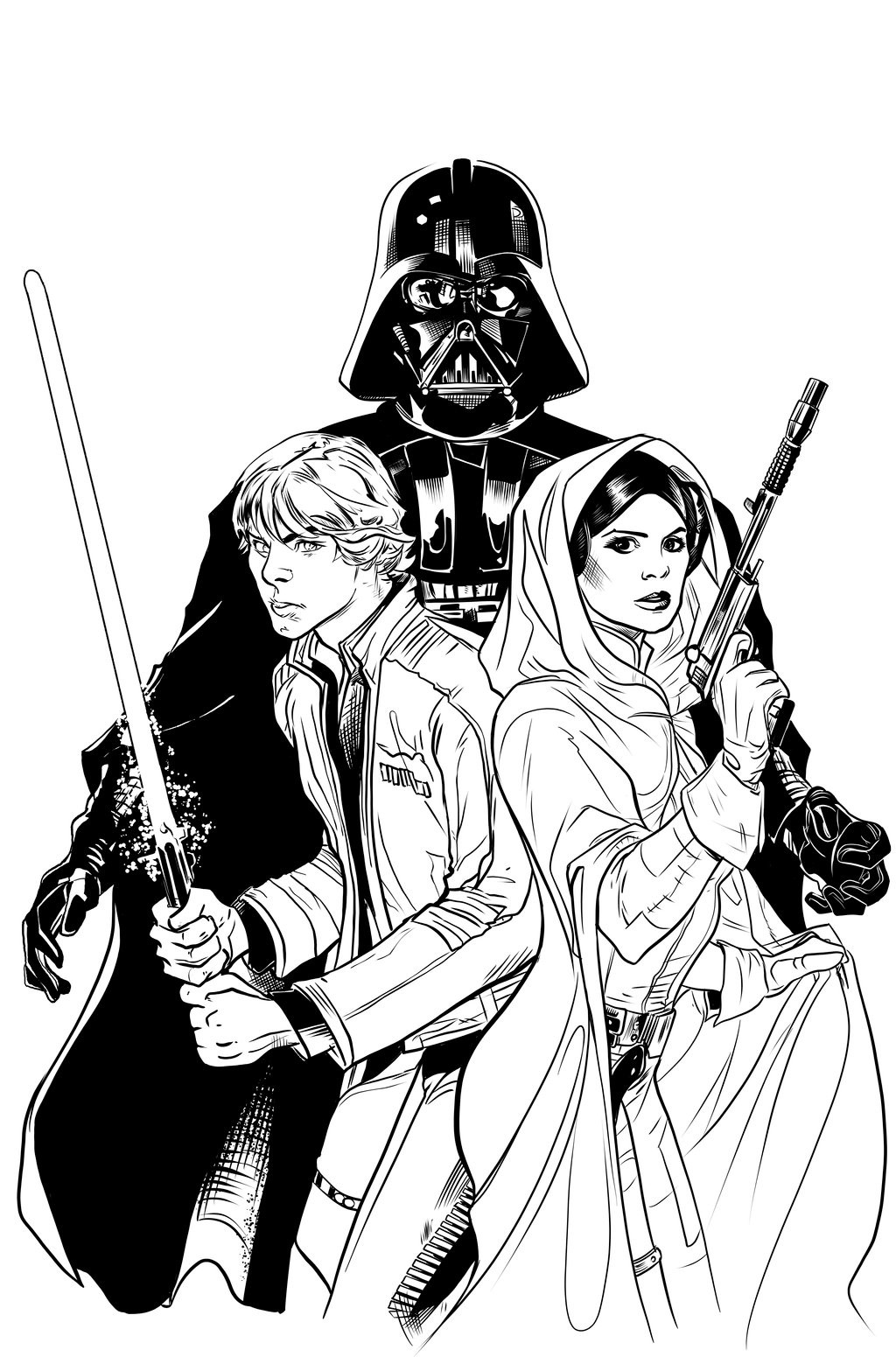 Star Wars Vader Down 1 Variant Cover - Sample Inks