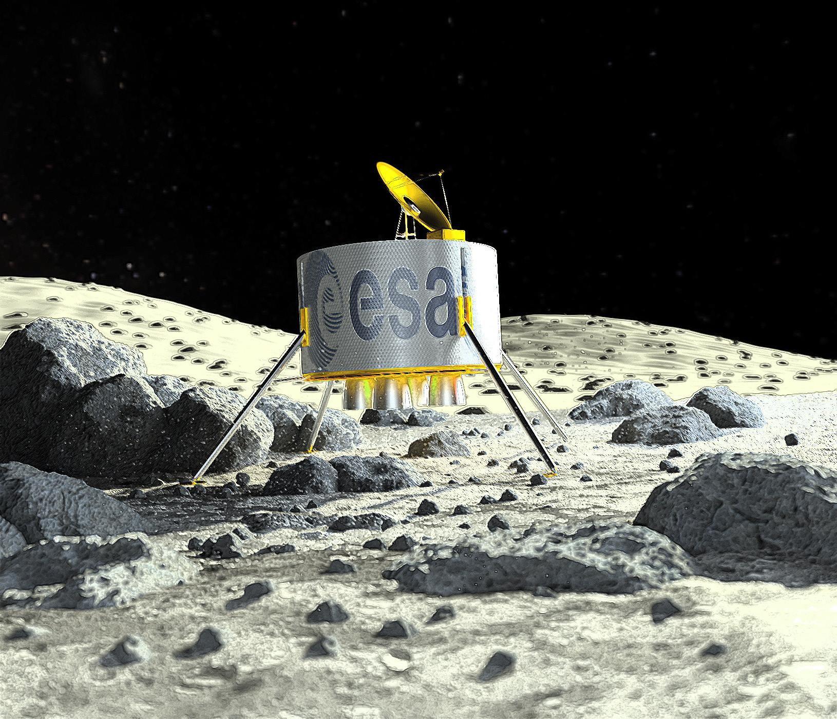 Daniel webb esa moon landing