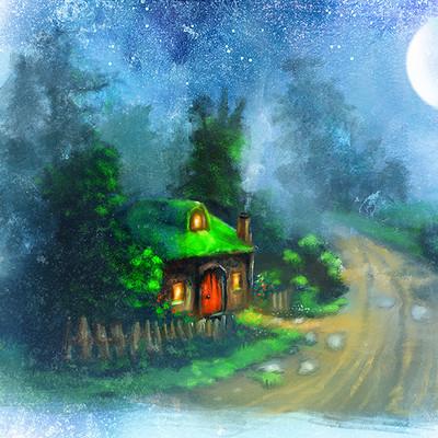 Okan bulbul cabin woods
