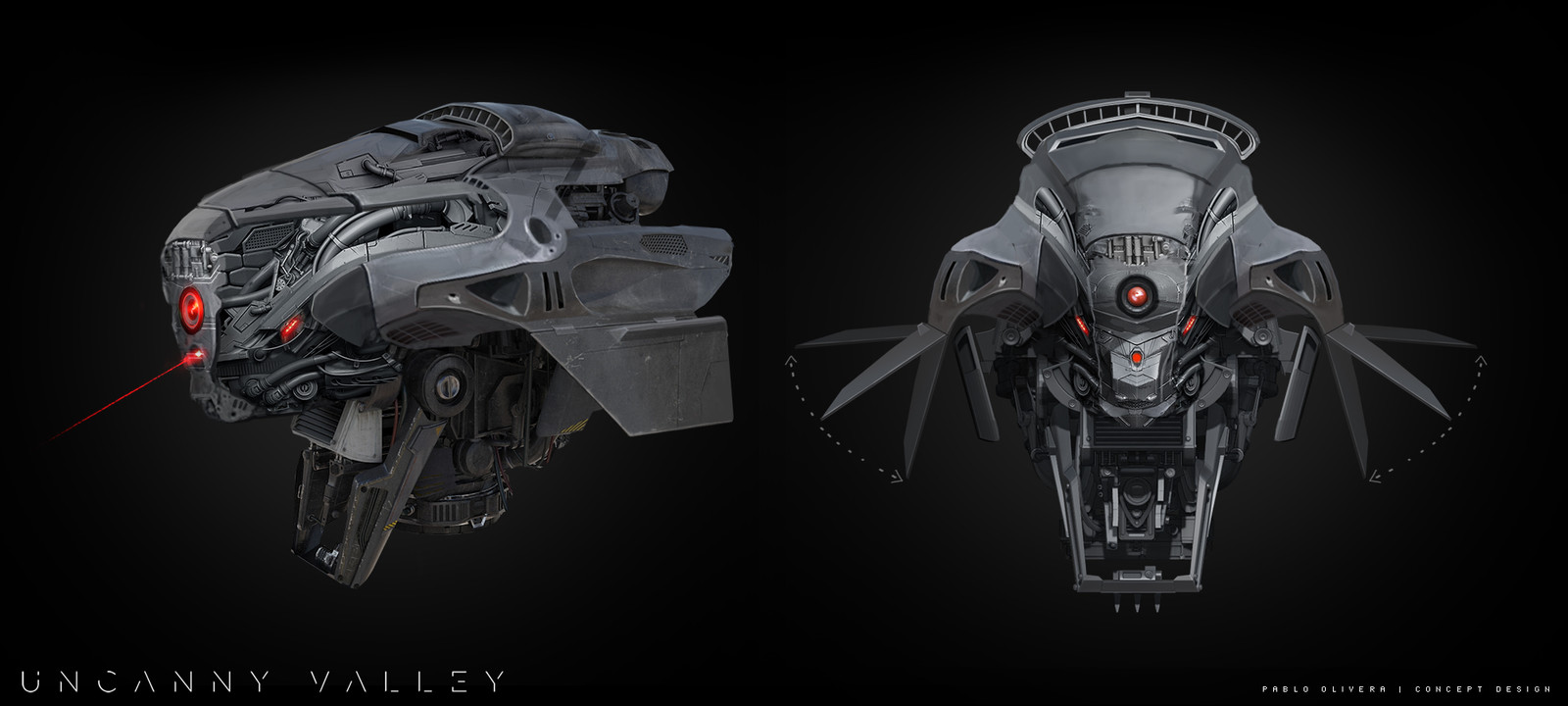 Camera War Drone for Uncanny Valley ( Sci-Fi short film )