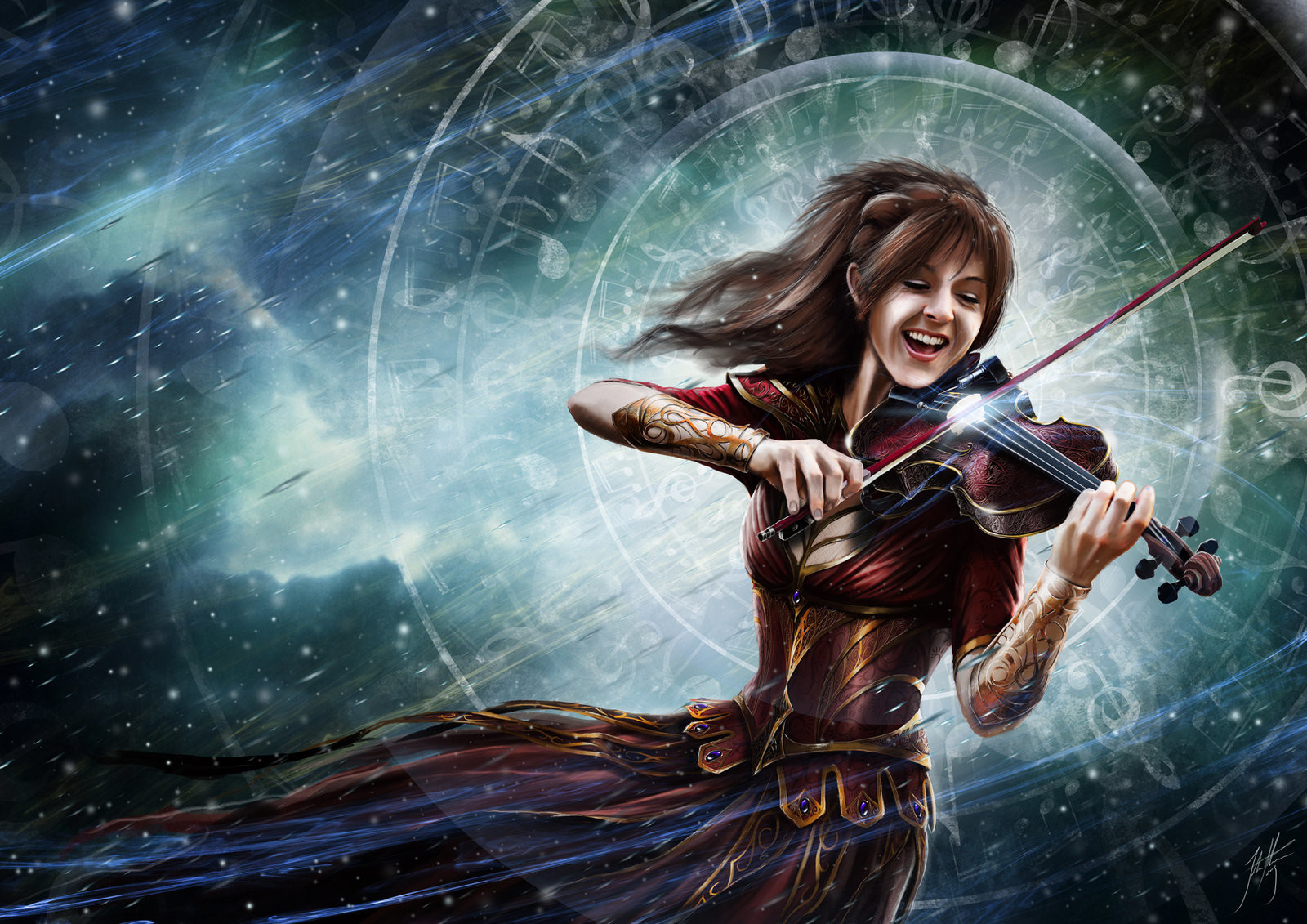 John stone lindsey stirling by john stone art d9l0qgm