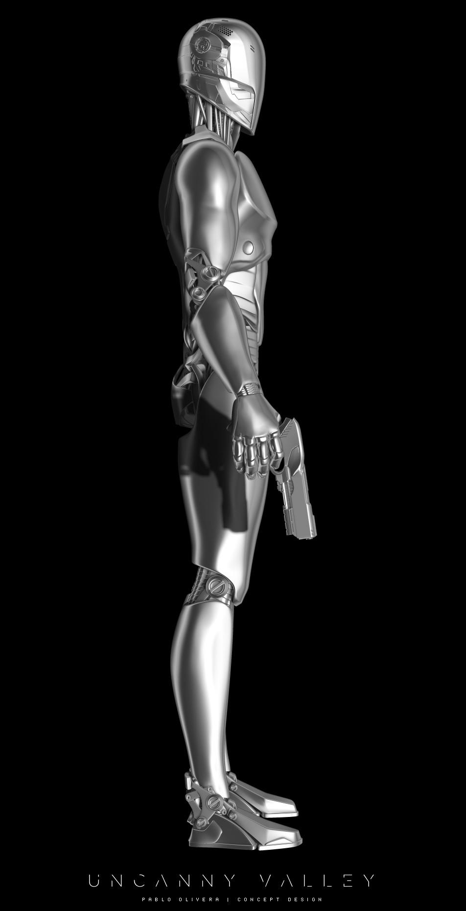 Pablo olivera uncanny valley character design robot 03