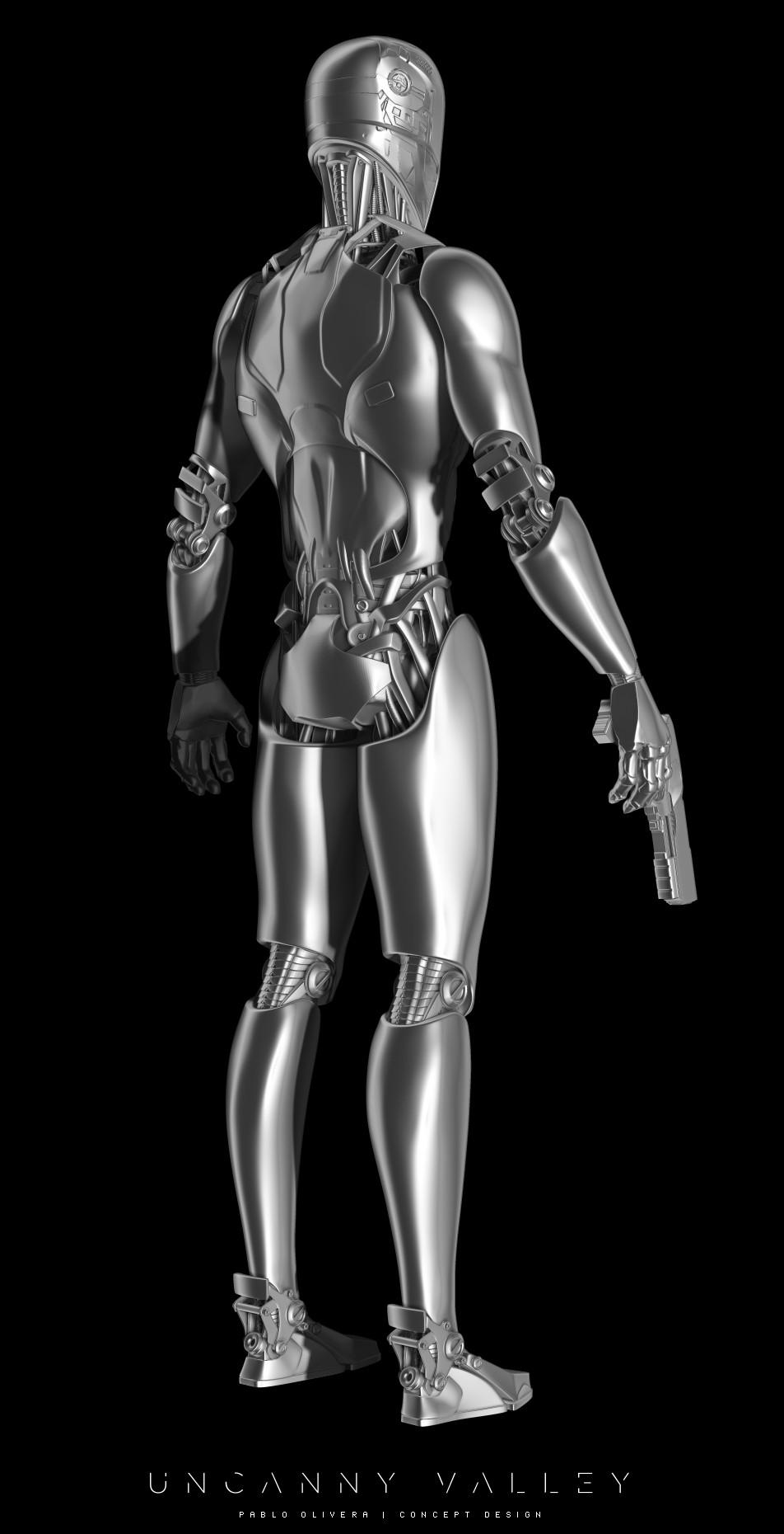 Pablo olivera uncanny valley character design robot 04
