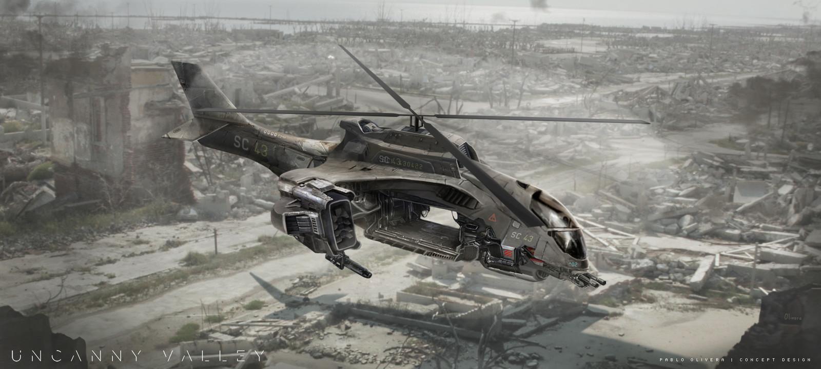 Vehicle design for Uncanny Valley ( Sci-Fi short film 2015)