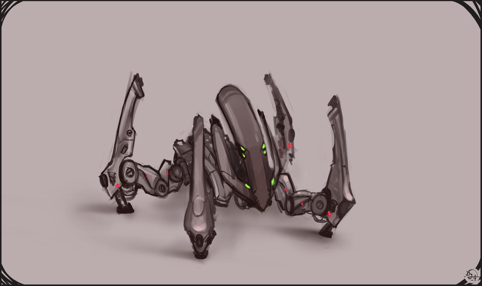 Bots & Environment Concept Art