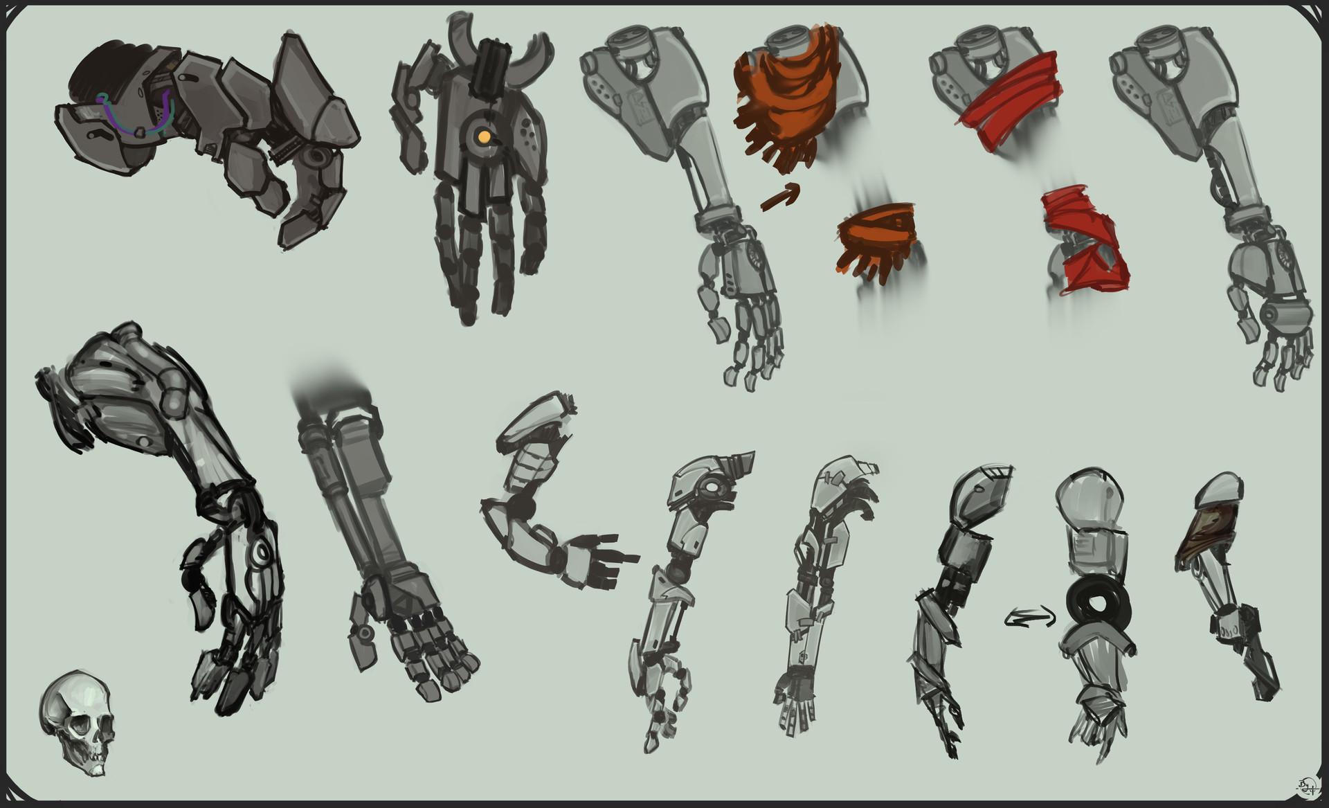 Etienne beschet conceptart warrior arms