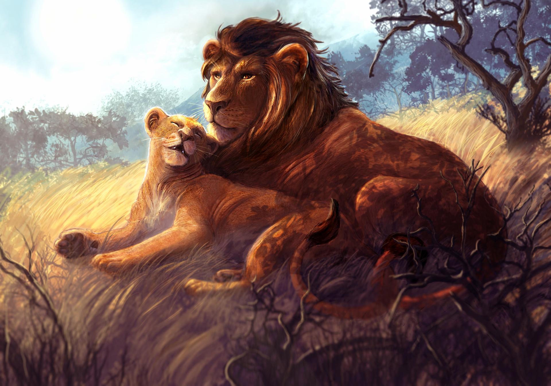 Walter brocca coppia di leoni