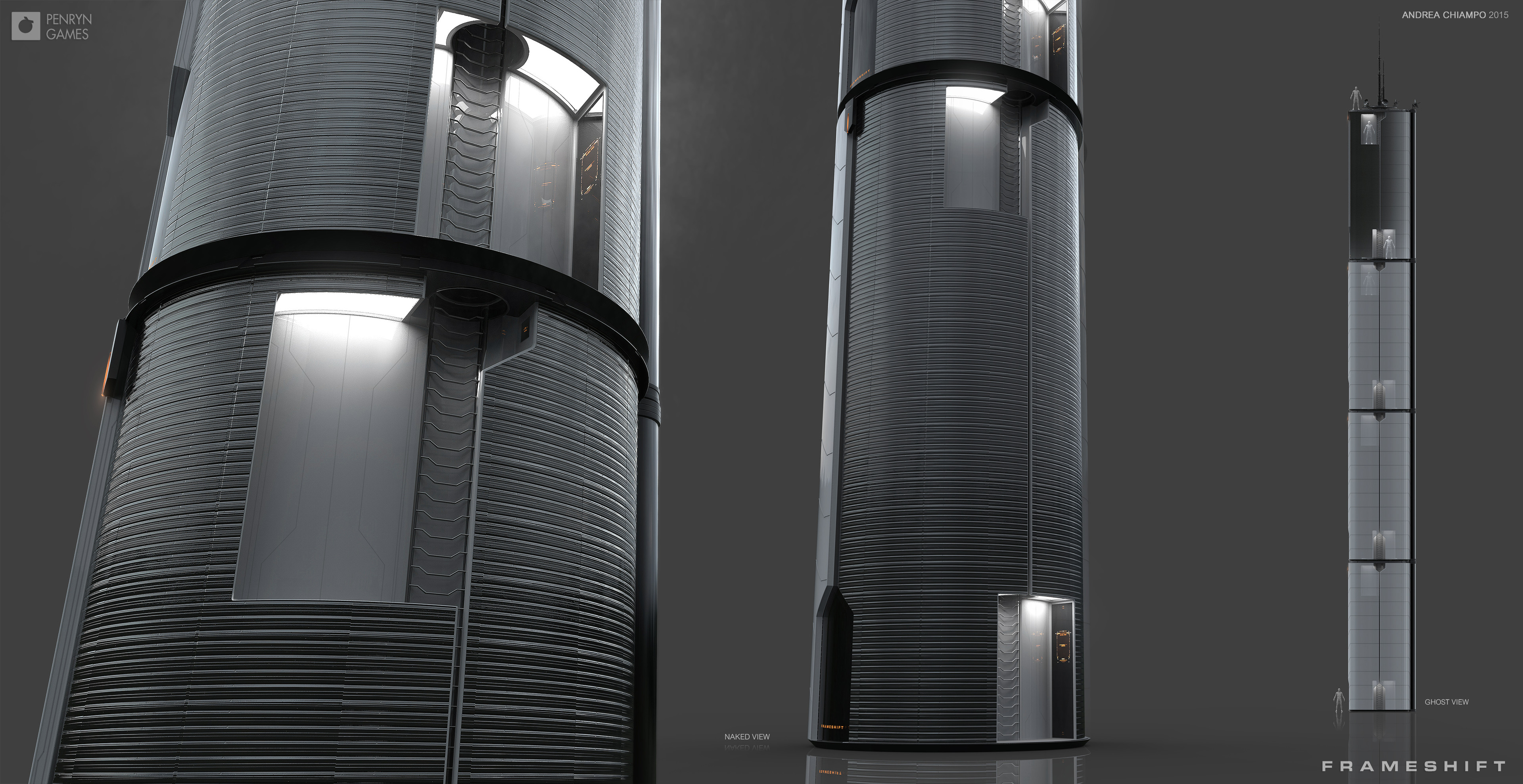 Naked View: Stairs - Stackable Cell Design (Antennas only at the top).