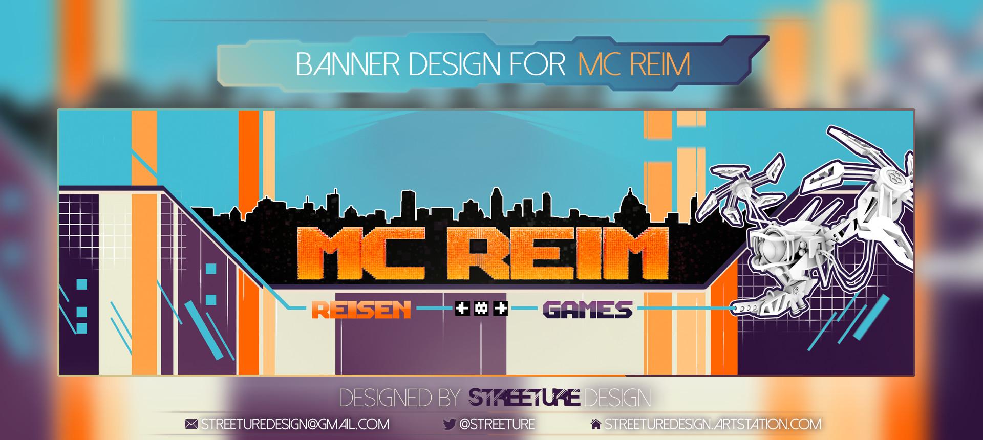 Streeture design bannerpresentationartstation mcreim