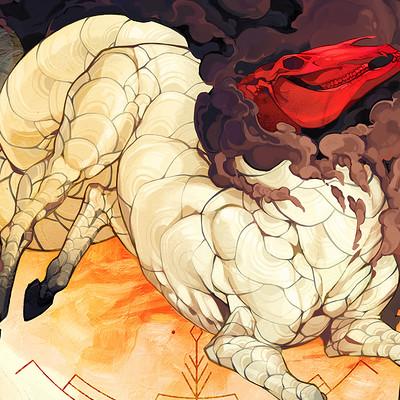 Liger inuzuka red skull qilin wtrmrk