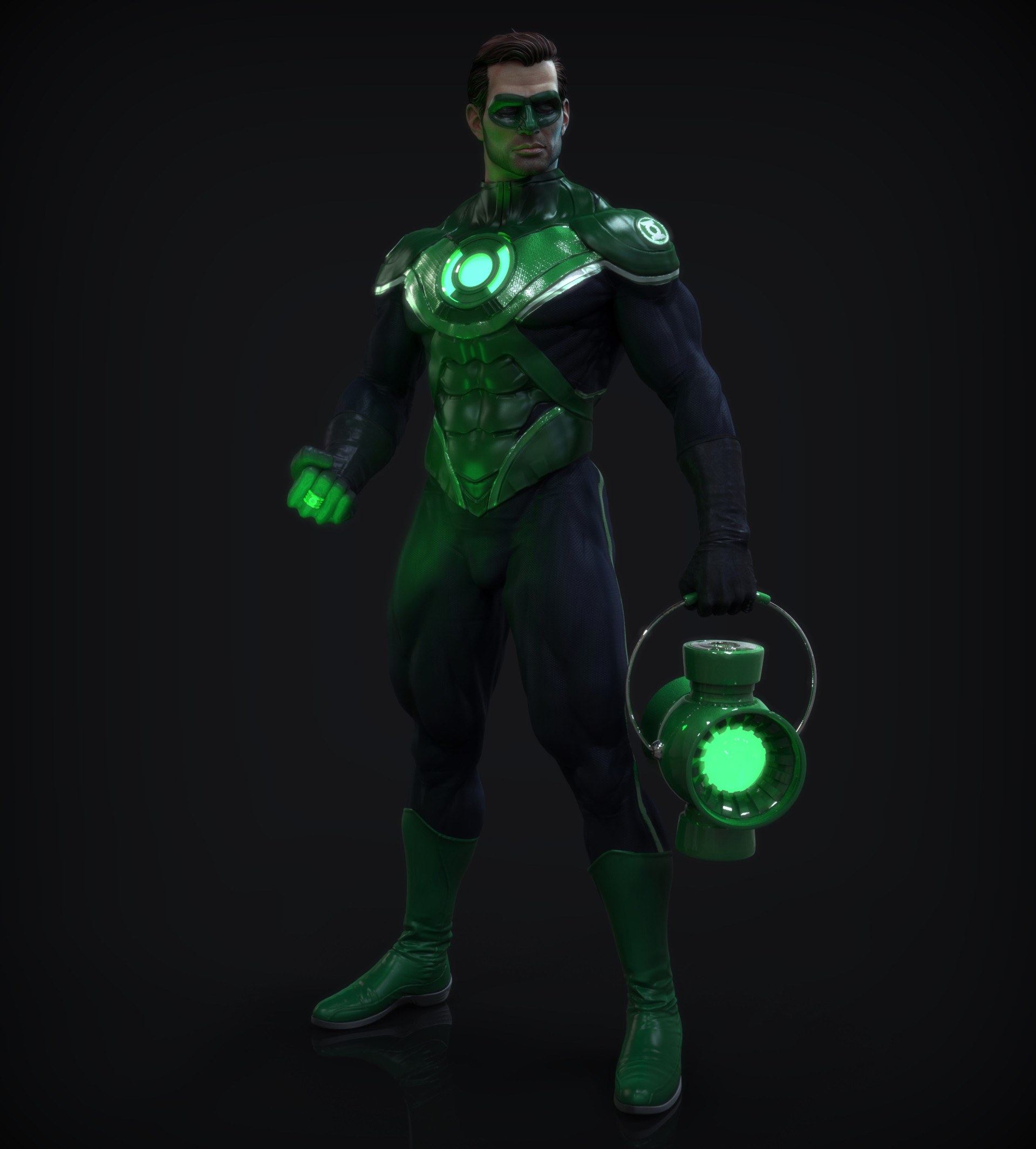 Artstation green lantern 2015 j mark for Mirror zbrush