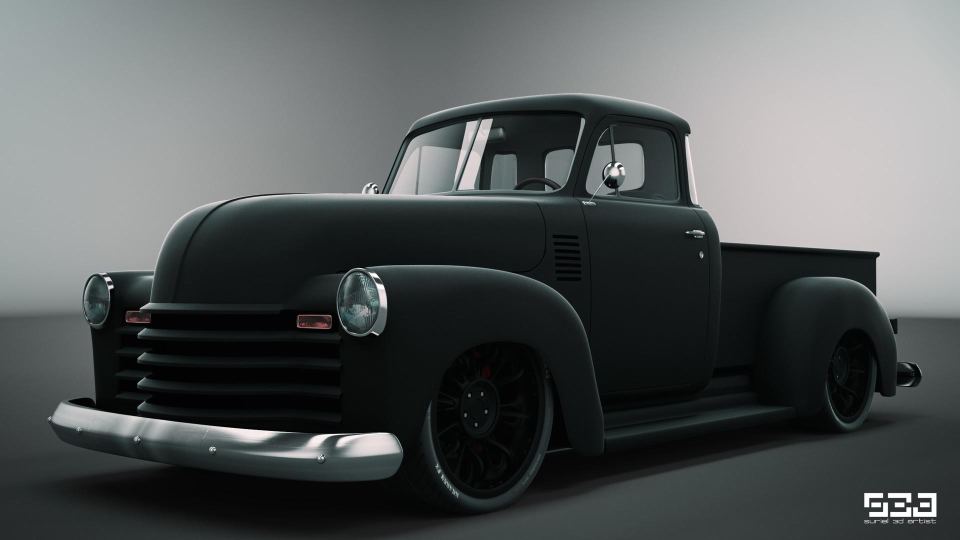 Artstation 1951 Chevrolet Pickup Custom Hector Suriel