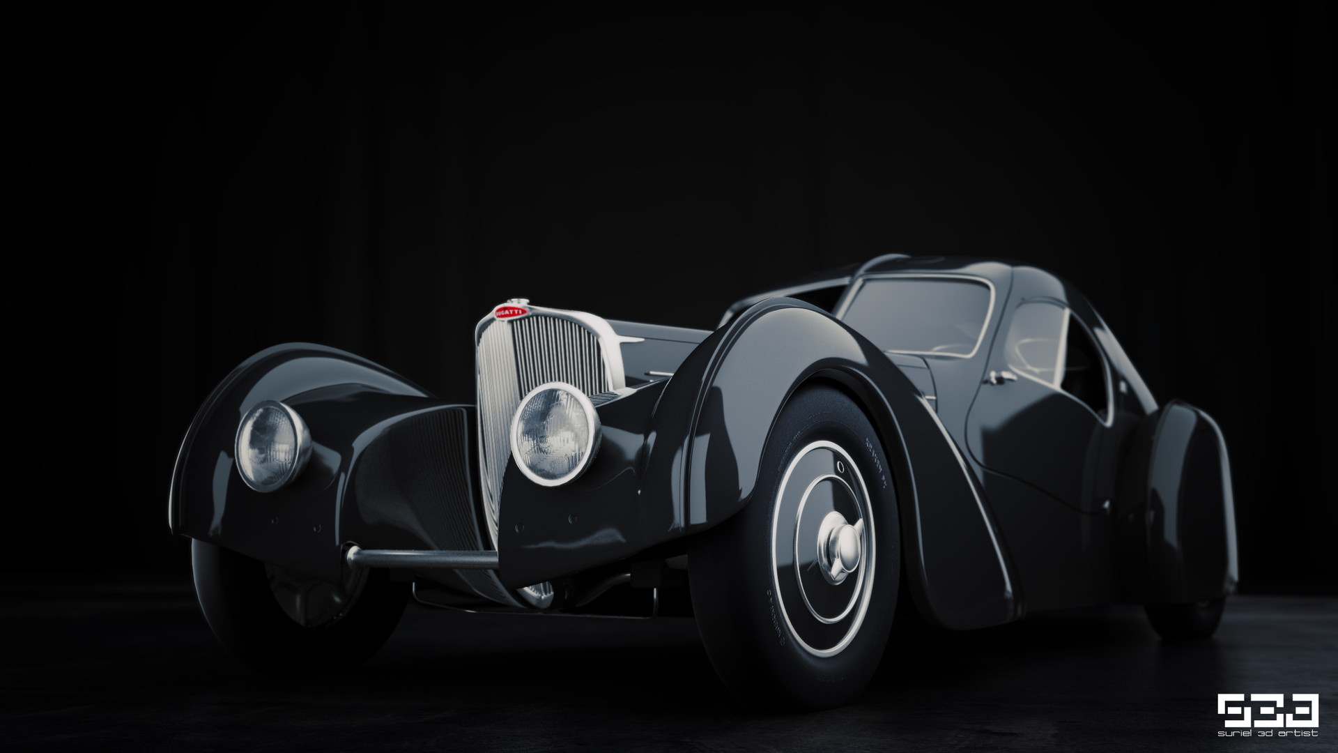 Artstation Bugatti Type 57sc Atlantic 1936 Hector Suriel