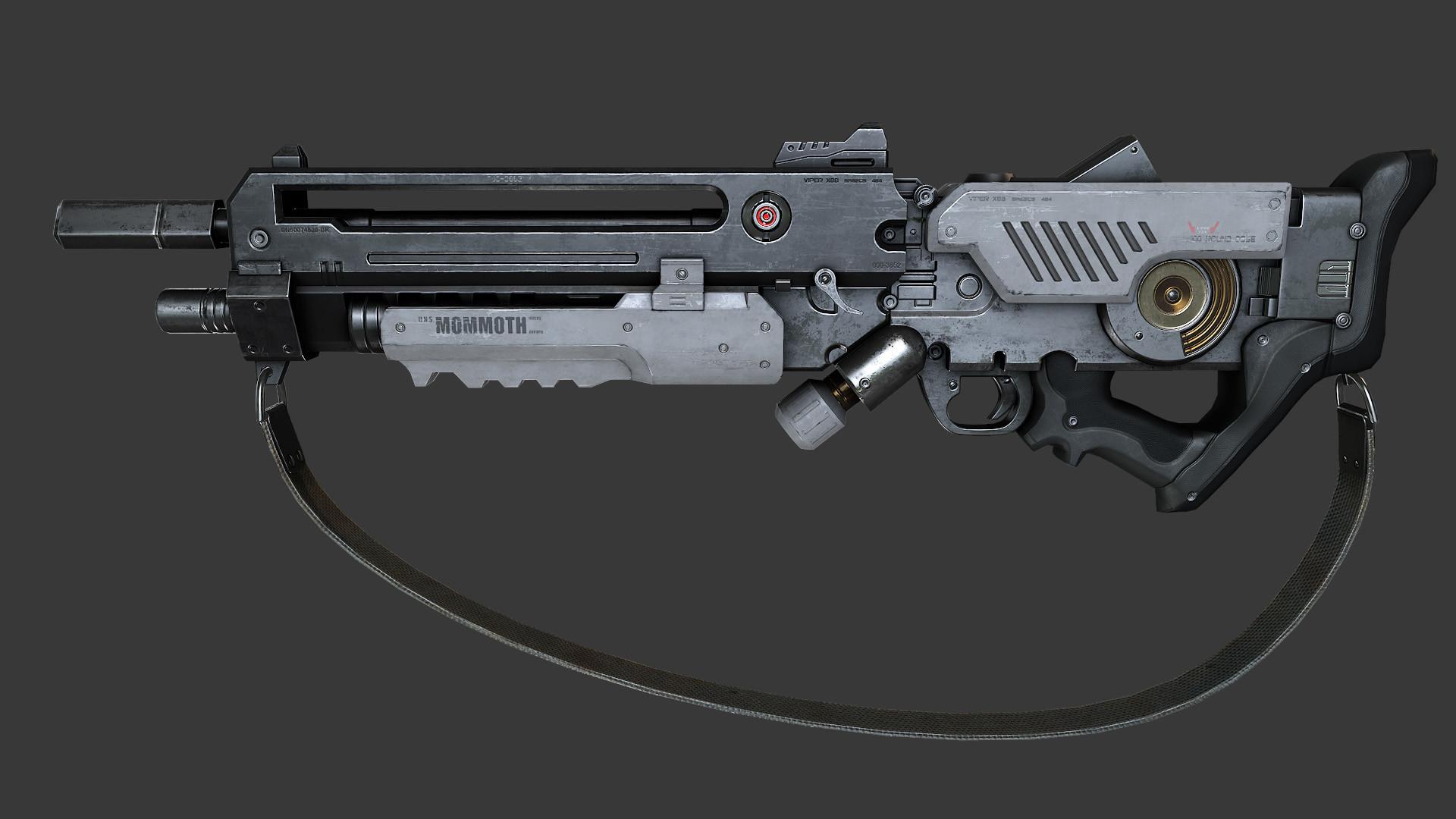 Ashish Parashar Plasma Gun In Game Asset