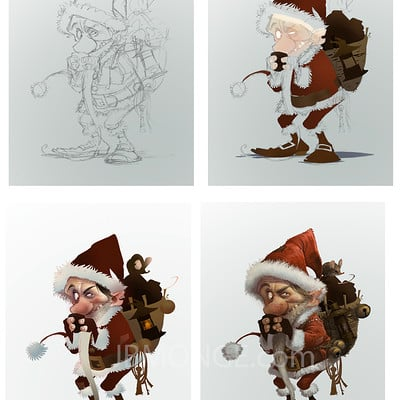 Step by step of  Krampus