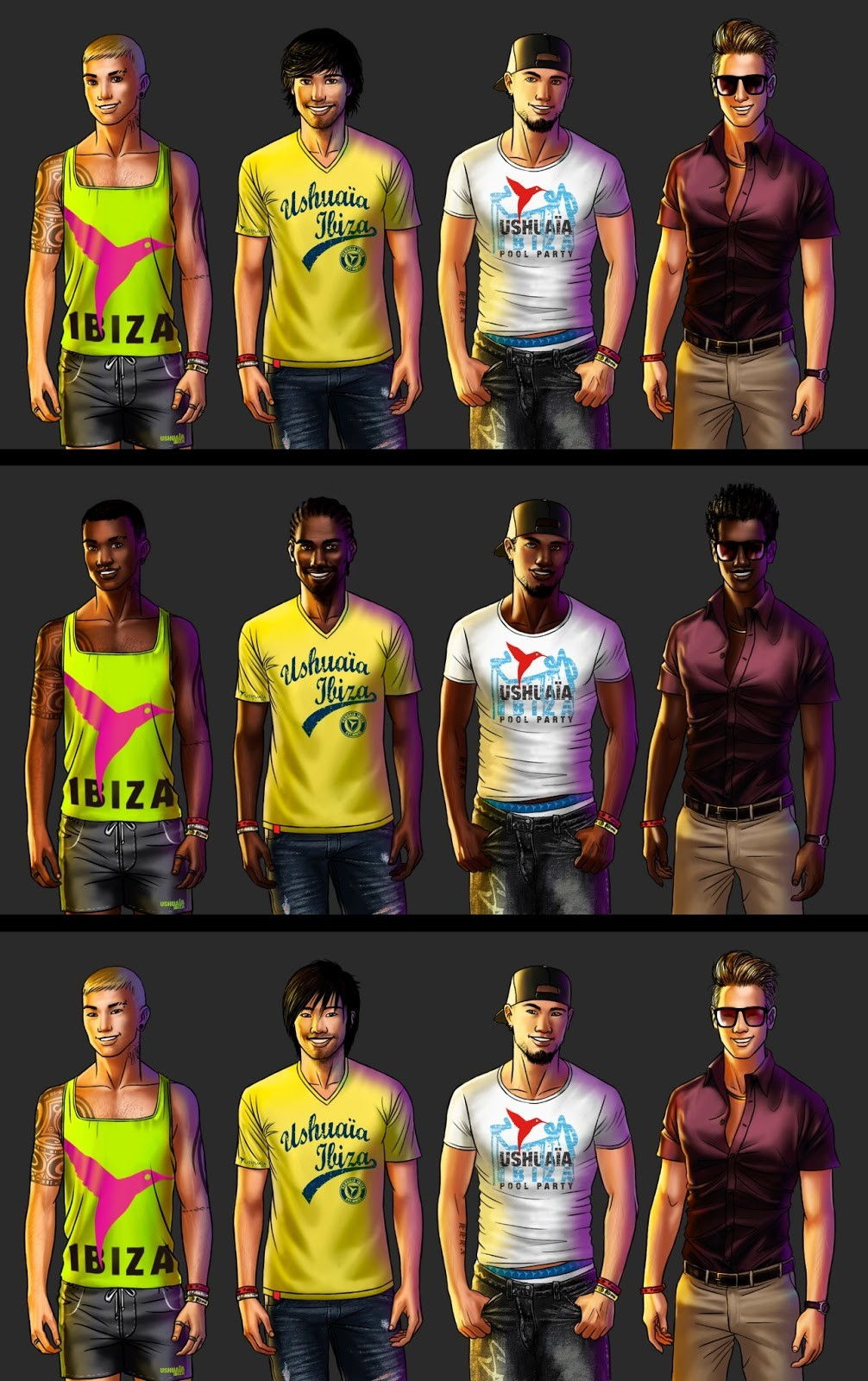 Male avatars (and their variants race)