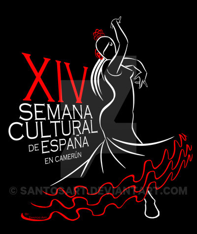 """Designs for the Spanish Cultural Centre in Yaounde:""""XIV CULTURAL WEEK OF SPAIN IN CAMEROON"""""""