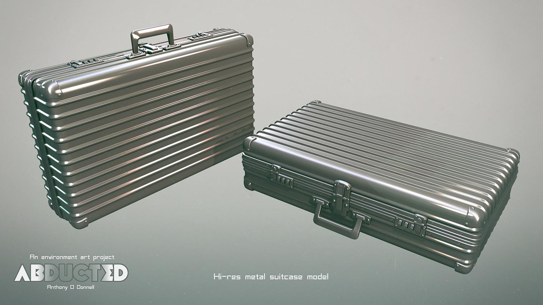 Metal suitcase hi res