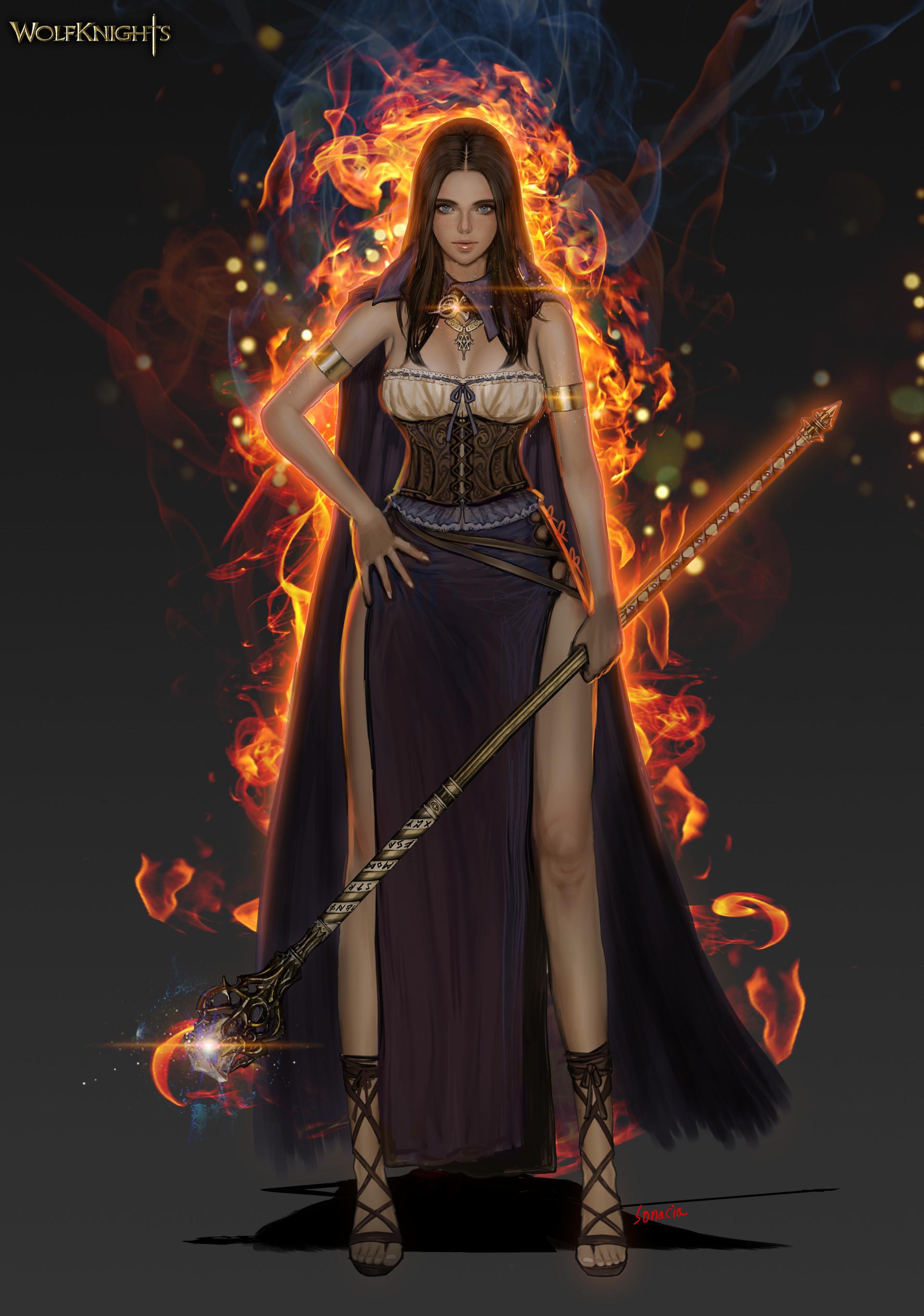 Artstation - Fire Mage, Sonacia - Youngmin Suh-9044
