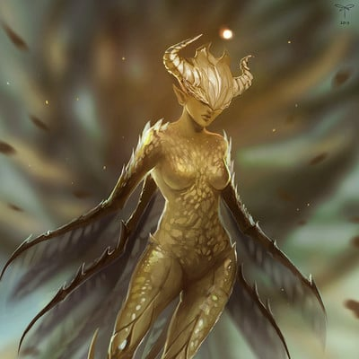 Sandra duchiewicz golden fairy by telthona web