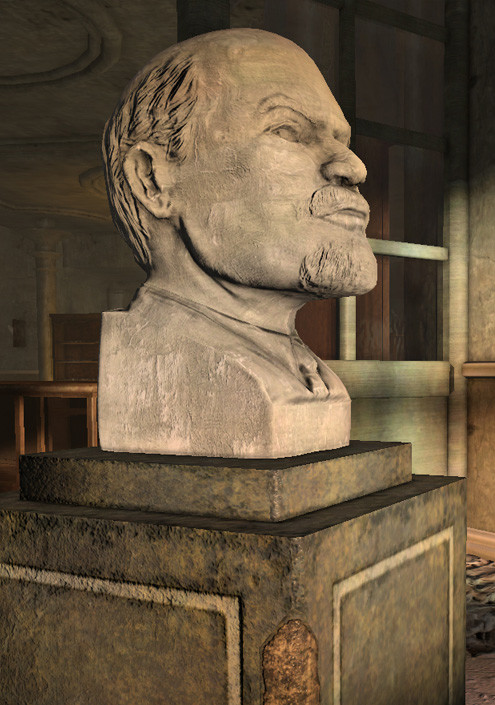 Paul foster bust and plinth