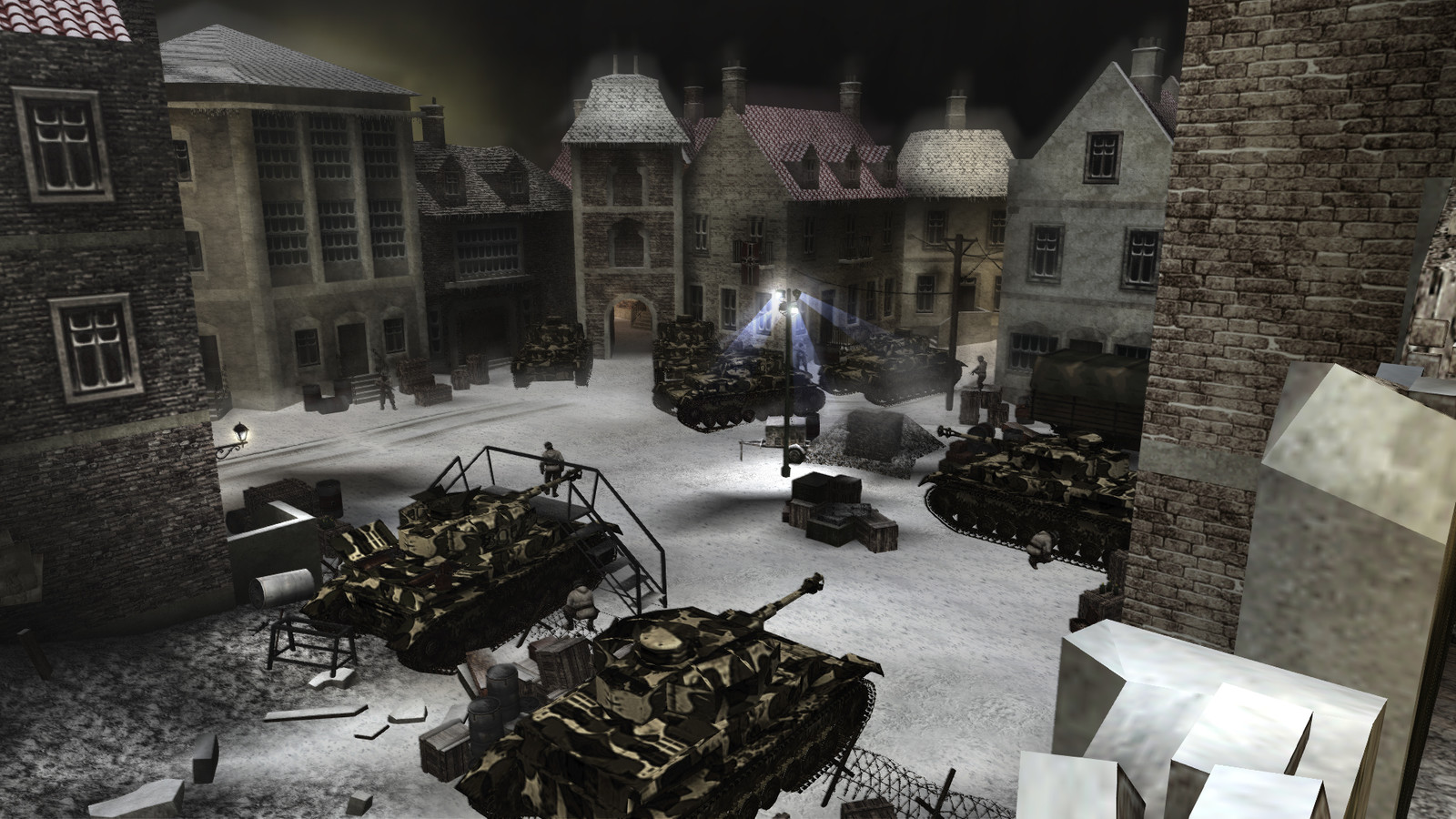 Images from'The Relief of Bastogne' campaign level (see project description for more information)