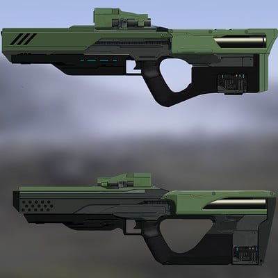 Timo peter gun render iterations 2