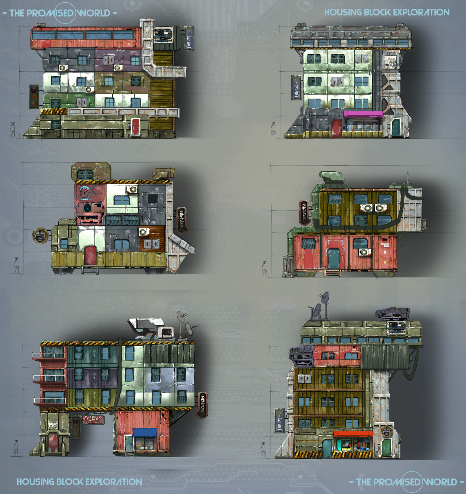 Colony housing block sketches