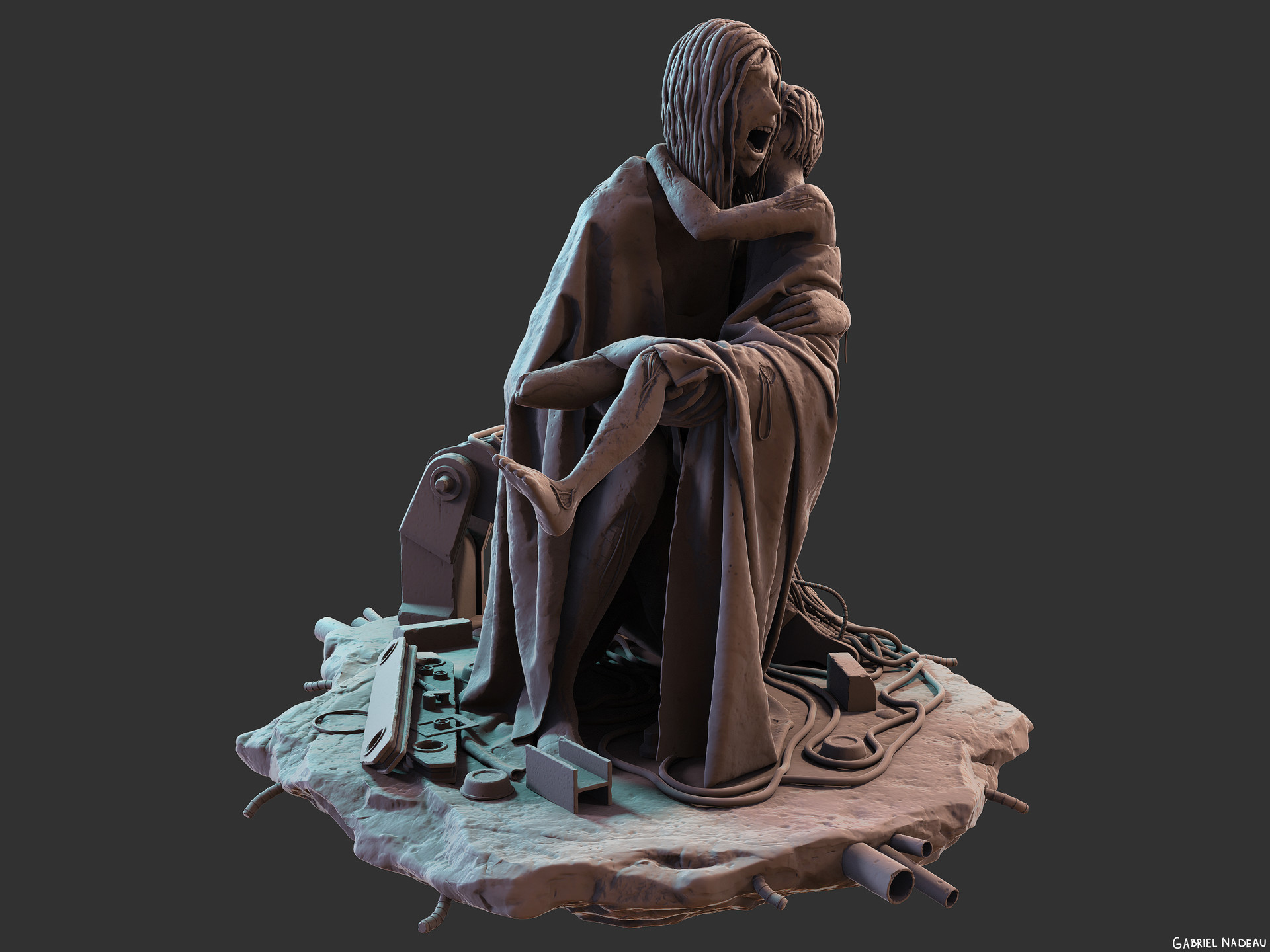 Gabriel nadeau statue final 160