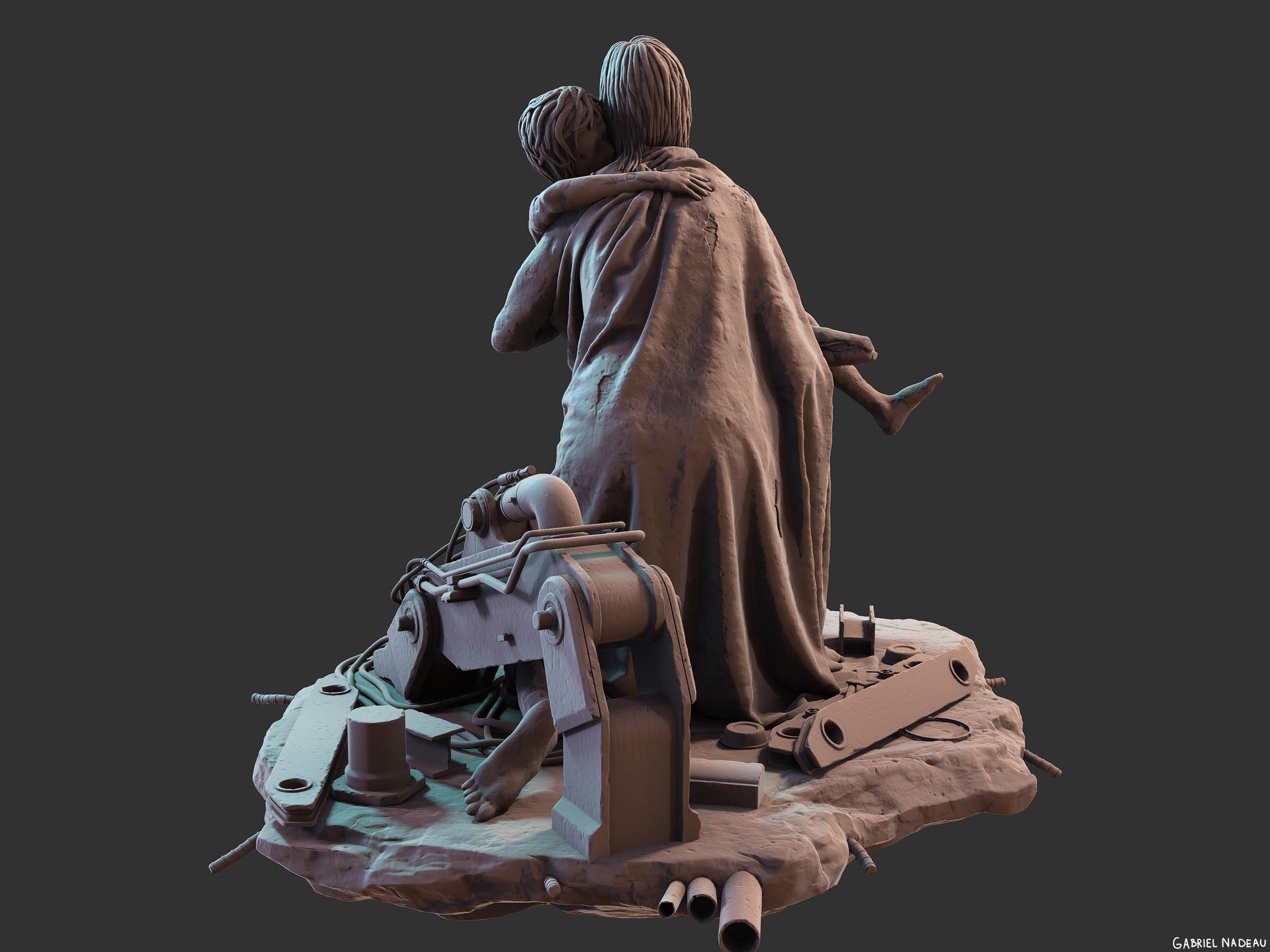 Gabriel nadeau statue final 91