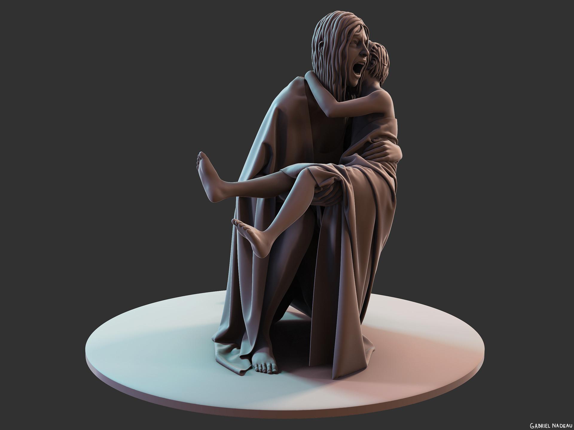 Gabriel nadeau statue clean 160