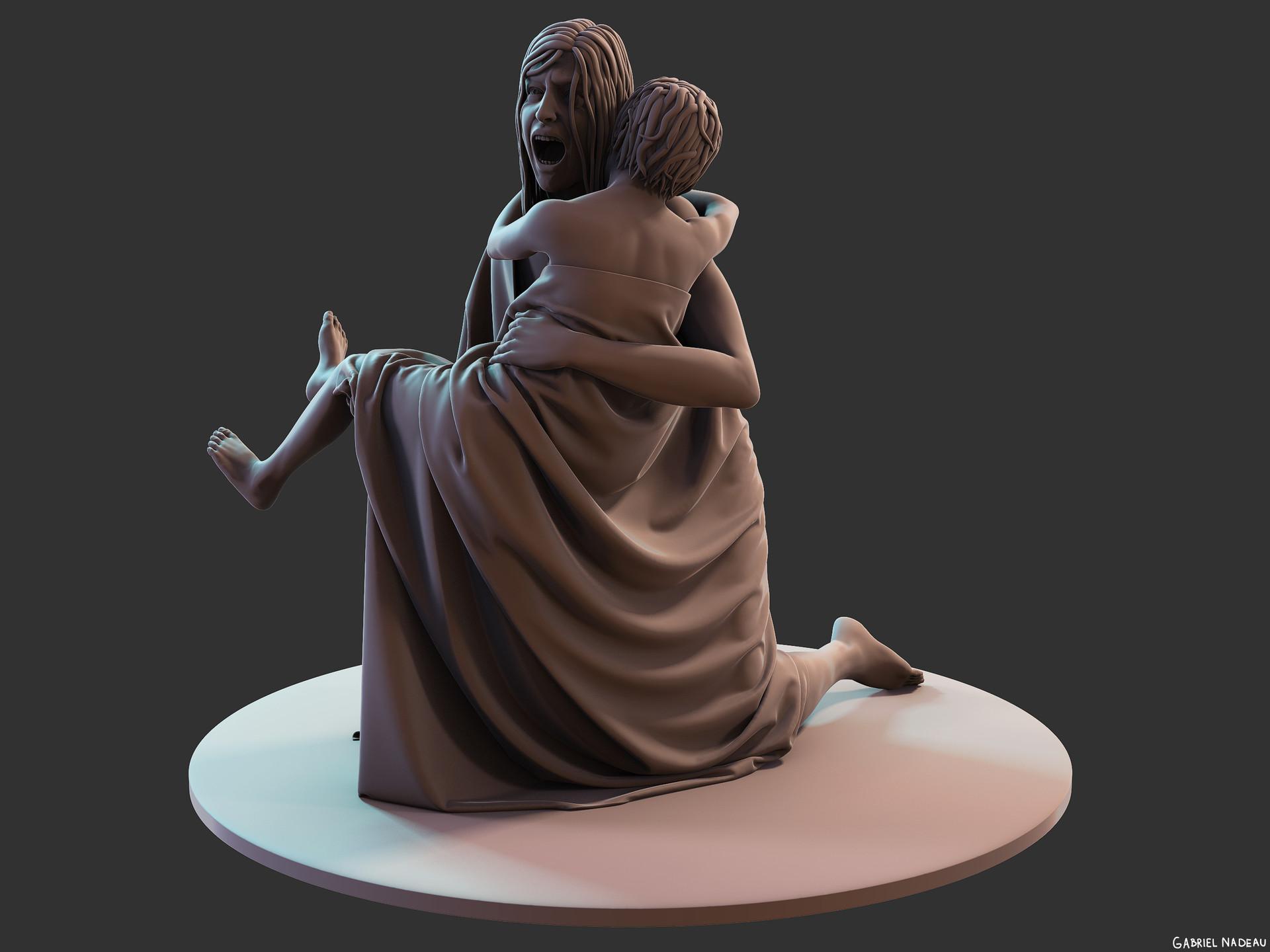 Gabriel nadeau statue clean 16