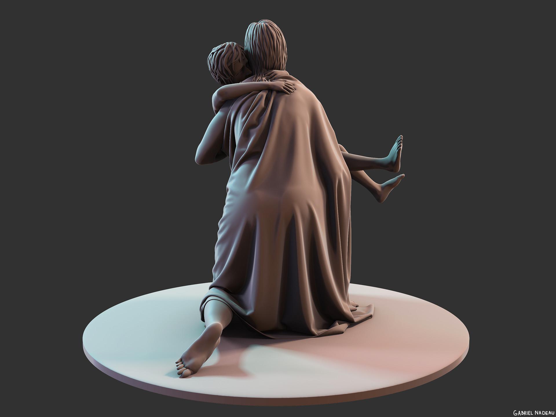 Gabriel nadeau statue clean 91