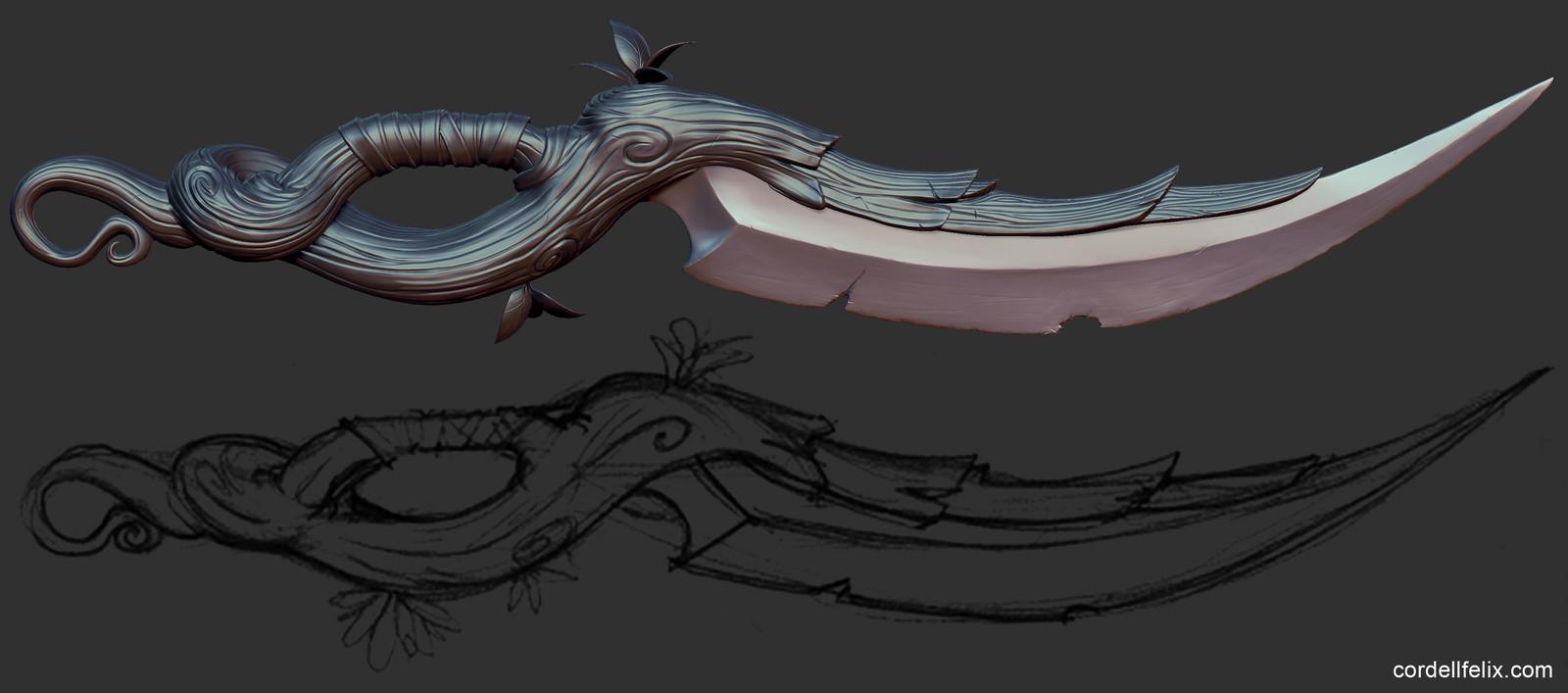 Fantasy Nature Dagger