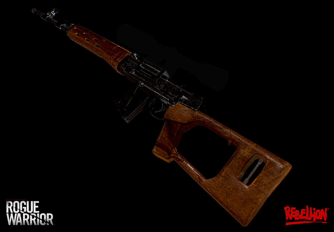 Dragunov low poly (scope was made by another artist)